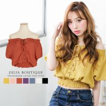 [New Color] 2 way, Lace-Up Off-Shoulder Short Length Top, Cut & Sewn / 18232