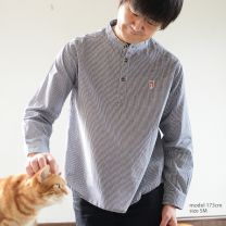muezza Shirt gingham check BK for mens < HACHI >