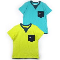 T-Shirt Pocket (s) 2 Piece Set - Mustard / Blue / 100 / 110 / 120 / 130 / 140 / 150 / 160