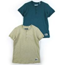 Henley Neck T-Shirt Beige / Navy / 100 / 110 / 120 / 130 / 140 / 150 / 160