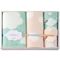 "Imabari Towel ""Fluffy Cheeks"" Towel Set - 04"