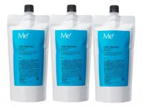 Me-plus, inc Color Shampoo Refill Summary 3-piece set 300mL x 3 points (for about 3 months) [Color: Deep brown (black hair)]