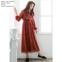 Balloon Sleeve Full Lace Long Dress / 510437