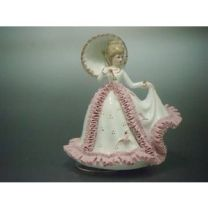 Music box - A girl with an umbrella (TKN-2053CP)