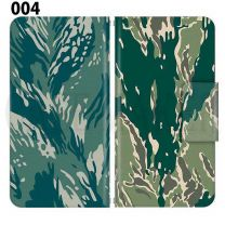 Apple Smartphone Case Premium Notebook Type S Size / M Size / L Size 3 Type General Purpose Sliding Cover 30 Design Made in Japan / Camouflage Camouflage Military '004