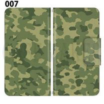 Apple Smartphone Case Premium Notebook Type S Size / M Size / L Size 3 Type General Purpose Sliding Cover 30 Design Made in Japan / Camouflage Camouflage Military '007