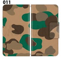 Apple Smartphone Case Premium Notebook Type S Size / M Size / L Size 3 Type General Purpose Sliding Cover 30 Design Made in Japan / Camouflage Camouflage Military '011