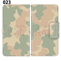 Apple Smartphone Case Premium Notebook Type S Size / M Size / L Size 3 Type General Purpose Sliding Cover 30 Design Made in Japan / Camouflage Camouflage Military '023
