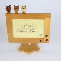 Action Photo Frame (Cat, Light Brown)