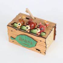 Friends of the Forest (Squirrel, Bear & Japanese Raccoon Dog) Music Box