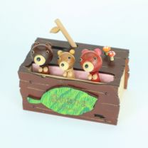 Friends of the Forest (Bear & Cub) Music Box