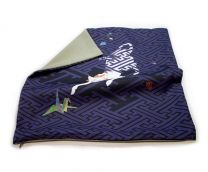 Kaga Yuzen/ Japanese Pattern Cushion Cover (The Cat and the Paper Crane)