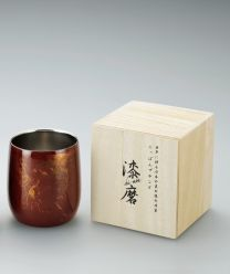 SCW-D502 Lacquer 2 Layer Structure Lock Cup Daruma Red Lacquer Sink