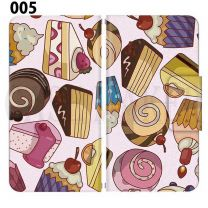 Apple Smartphone Case Premium Notebook Type S Size / M Size / L Size 3 Type General Purpose Sliding Cover 30 Design Made in Japan / Dessert' 005