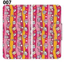 Apple Smartphone Case Premium Notebook Type S Size / M Size / L Size 3 Type General Purpose Sliding Cover 30 Design Made in Japan / Dessert' 007