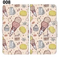 Apple Smartphone Case Premium Notebook Type S Size / M Size / L Size 3 Type General Purpose Sliding Cover 30 Design Made in Japan / Dessert' 008