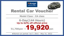 Limited Time Offer  Special Offer 6-Day Rental Car Voucher [EA Class]
