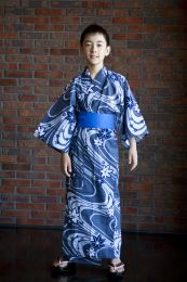 Children's Yukata Dark Water (S/M/L)