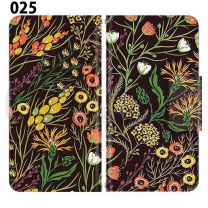 Apple Smartphone Case Premium Notebook Type S Size / M Size / L Size 3 Type General Purpose Sliding Cover 30 Design Made in Japan /  Fabric pattern ' 025