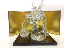 [Delivered from Otaru, Glass Town] Dragon ornament with gold leaf (with Folding Screen and Stand) Small