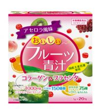 Delicious fruit Green Juice Collagen & Placenta 20 pack 3 set