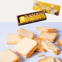 [1. Snacks; baked sweets] Hokkaido Cheese Chocolate Sandwich Cookies 6pcs x 24 boxes