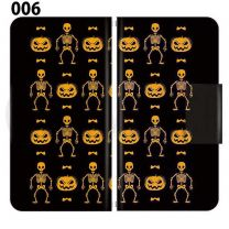 Apple Smartphone Case Premium Notebook Type S Size / M Size / L Size 3 Type General Purpose Sliding Cover 30 Design Made in Japan / Halloween Pumpkin ' 006