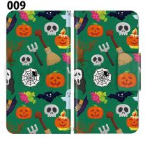 Apple Smartphone Case Premium Notebook Type S Size / M Size / L Size 3 Type General Purpose Sliding Cover 30 Design Made in Japan / Halloween Pumpkin ' 009