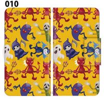 Apple Smartphone Case Premium Notebook Type S Size / M Size / L Size 3 Type General Purpose Sliding Cover 30 Design Made in Japan / Halloween Pumpkin ' 010