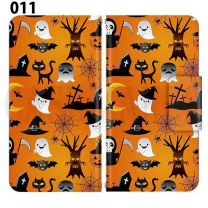 Apple Smartphone Case Premium Notebook Type S Size / M Size / L Size 3 Type General Purpose Sliding Cover 30 Design Made in Japan / Halloween Pumpkin ' 011