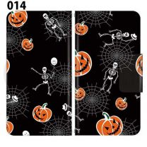 Apple Smartphone Case Premium Notebook Type S Size / M Size / L Size 3 Type General Purpose Sliding Cover 30 Design Made in Japan / Halloween Pumpkin ' 014