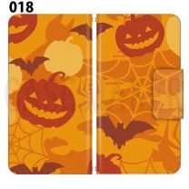 Apple Smartphone Case Premium Notebook Type S Size / M Size / L Size 3 Type General Purpose Sliding Cover 30 Design Made in Japan / Halloween Pumpkin ' 018