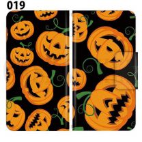 Apple Smartphone Case Premium Notebook Type S Size / M Size / L Size 3 Type General Purpose Sliding Cover 30 Design Made in Japan / Halloween Pumpkin ' 019