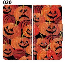 Apple Smartphone Case Premium Notebook Type S Size / M Size / L Size 3 Type General Purpose Sliding Cover 30 Design Made in Japan / Halloween Pumpkin ' 020