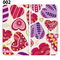 Apple Smartphone Case Premium Notebook Type S Size / M Size / L Size 3 Type General Purpose Sliding Cover 30 Design Made in Japan / Heart Love ' 002
