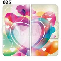 Apple Smartphone Case Premium Notebook Type S Size / M Size / L Size 3 Type General Purpose Sliding Cover 30 Design Made in Japan / Heart Love ' 025