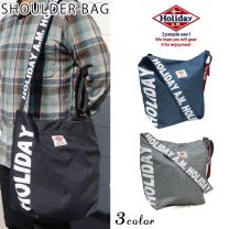 Shoulder Bag Men's and Ladies Diagonal Logo Large Capacity HolidayA. M. Keys
