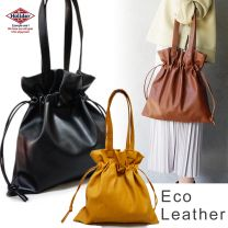 Bag Tote Bag Drawstring Ladies' Men's Eco Leather Fake Leather 2 way HolidayA. M.