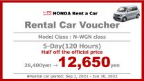 Limited Time Offer  Special Offer 5-Day Rental Car Voucher [N-WGN Class]