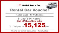 Limited Time Offer  Special Offer 6-Day Rental Car Voucher [N-WGN Class]