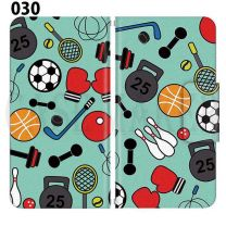 Apple Smartphone Case Premium Notebook Type S Size / M Size / L Size 3 Type General Purpose Sliding Cover 30 Design Made in Japan /Sports Basketball Baseball Soccer '030
