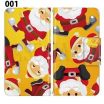 Apple Smartphone Case Premium Notebook Type S Size / M Size / L Size 3 Type General Purpose Sliding Cover 30 Design Made in Japan / Christmas Santa Santa Claus Reindeer '001